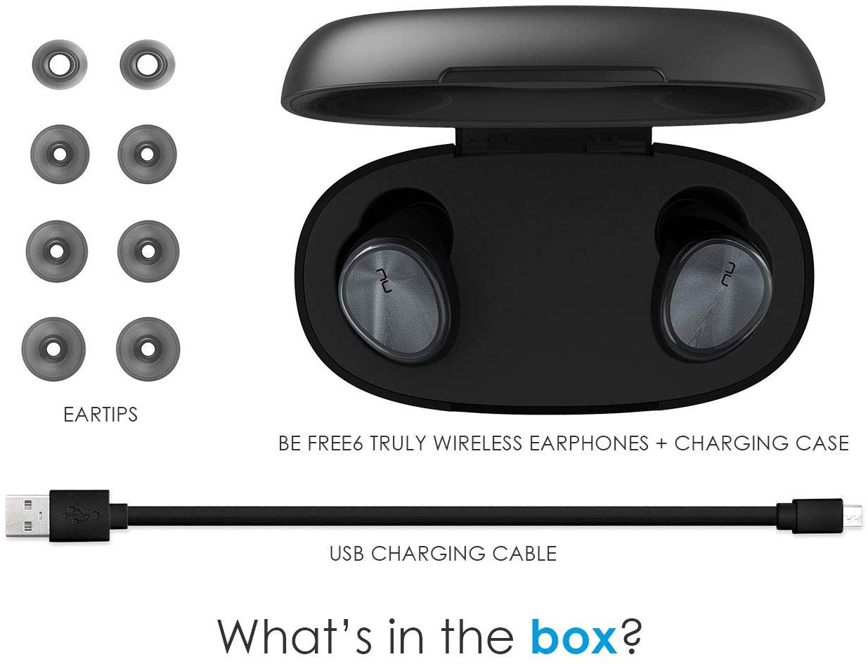 Optoma NuForce Be Free 6 Box items