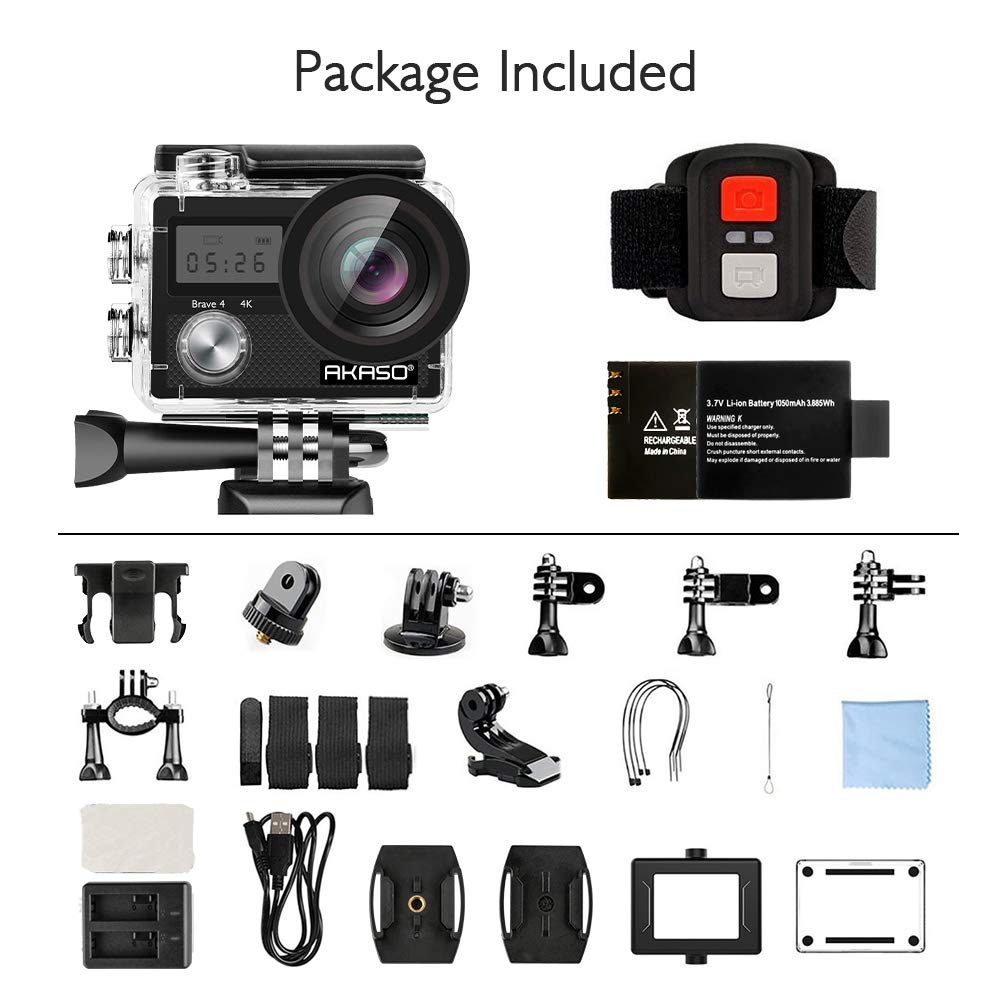 AKASO Brave 4 Action Camera package
