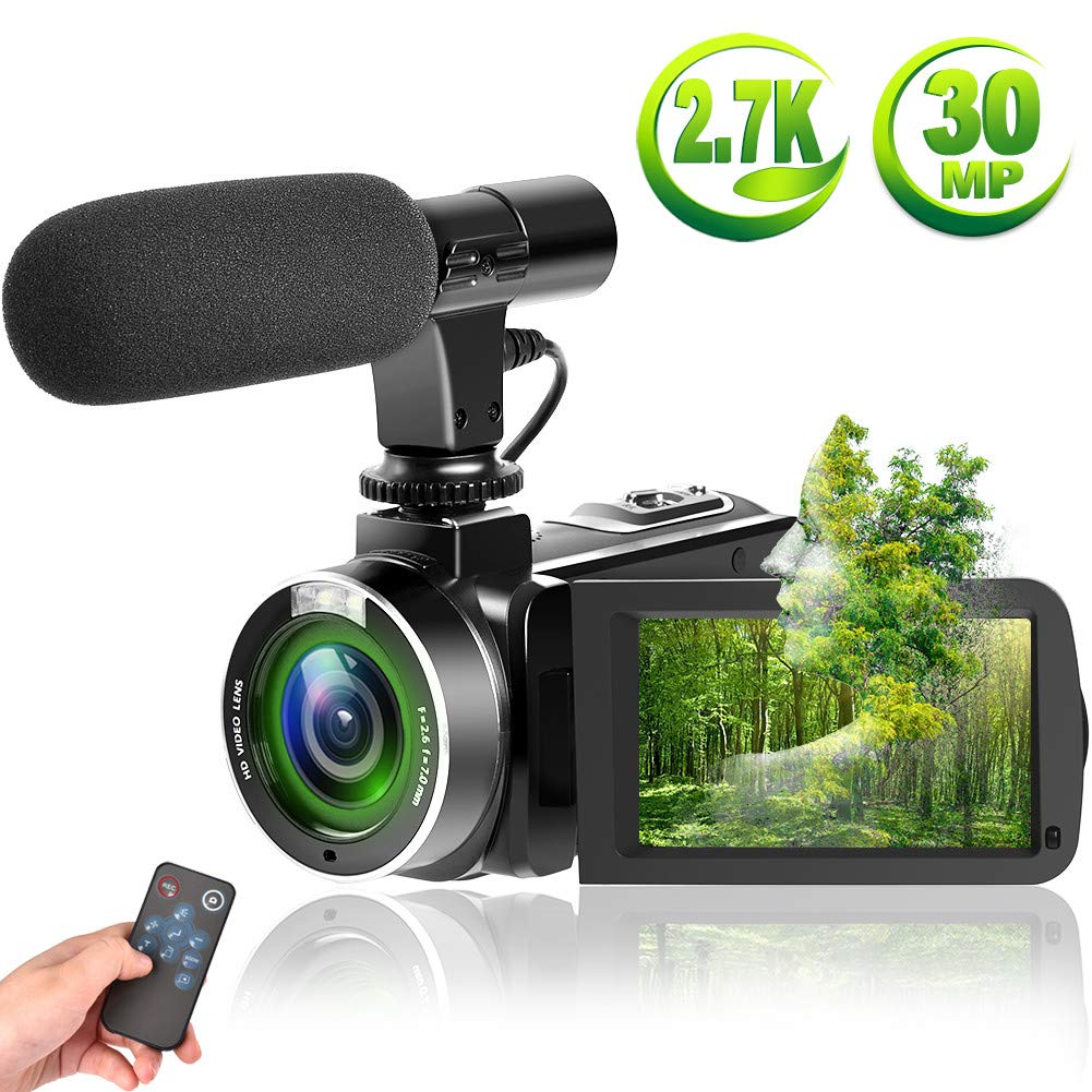 SUNLEA Vlogging Camera with Microphone