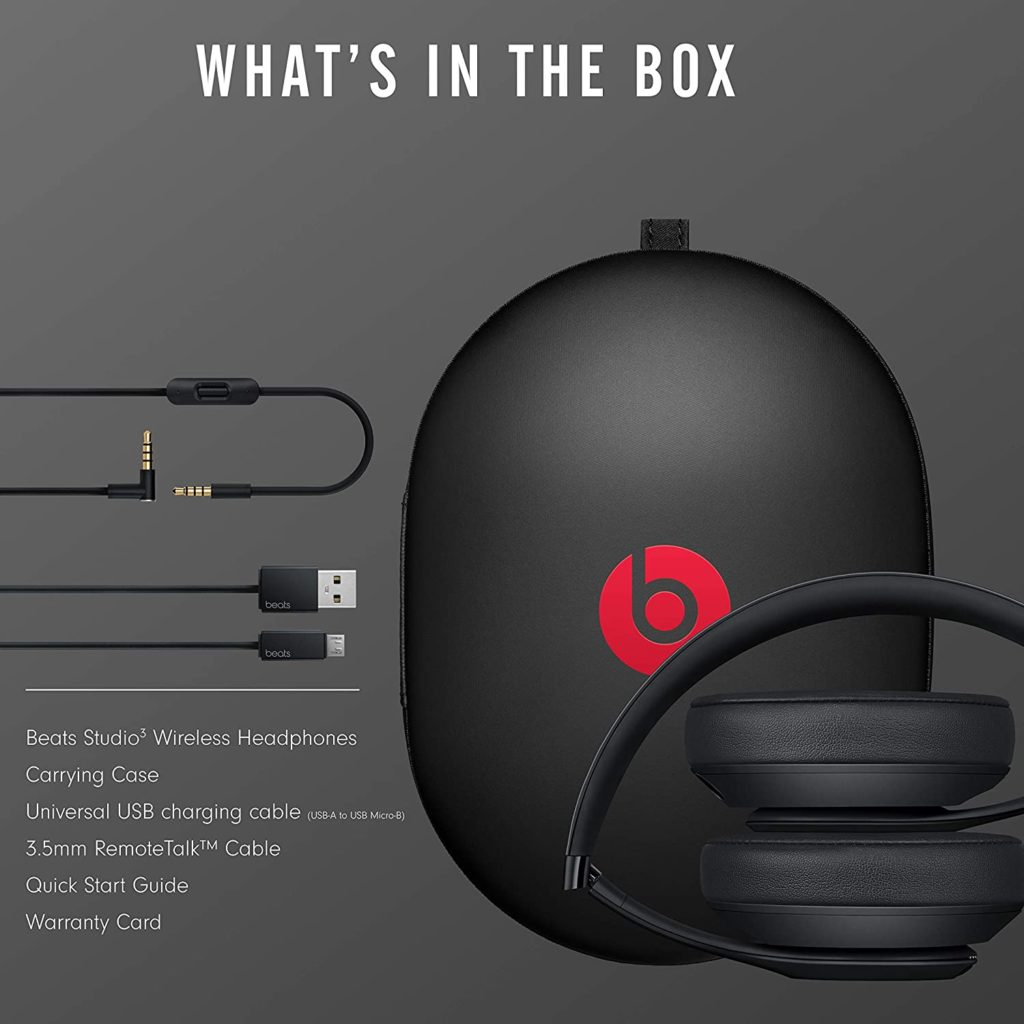Beats Studio3 whats in the box